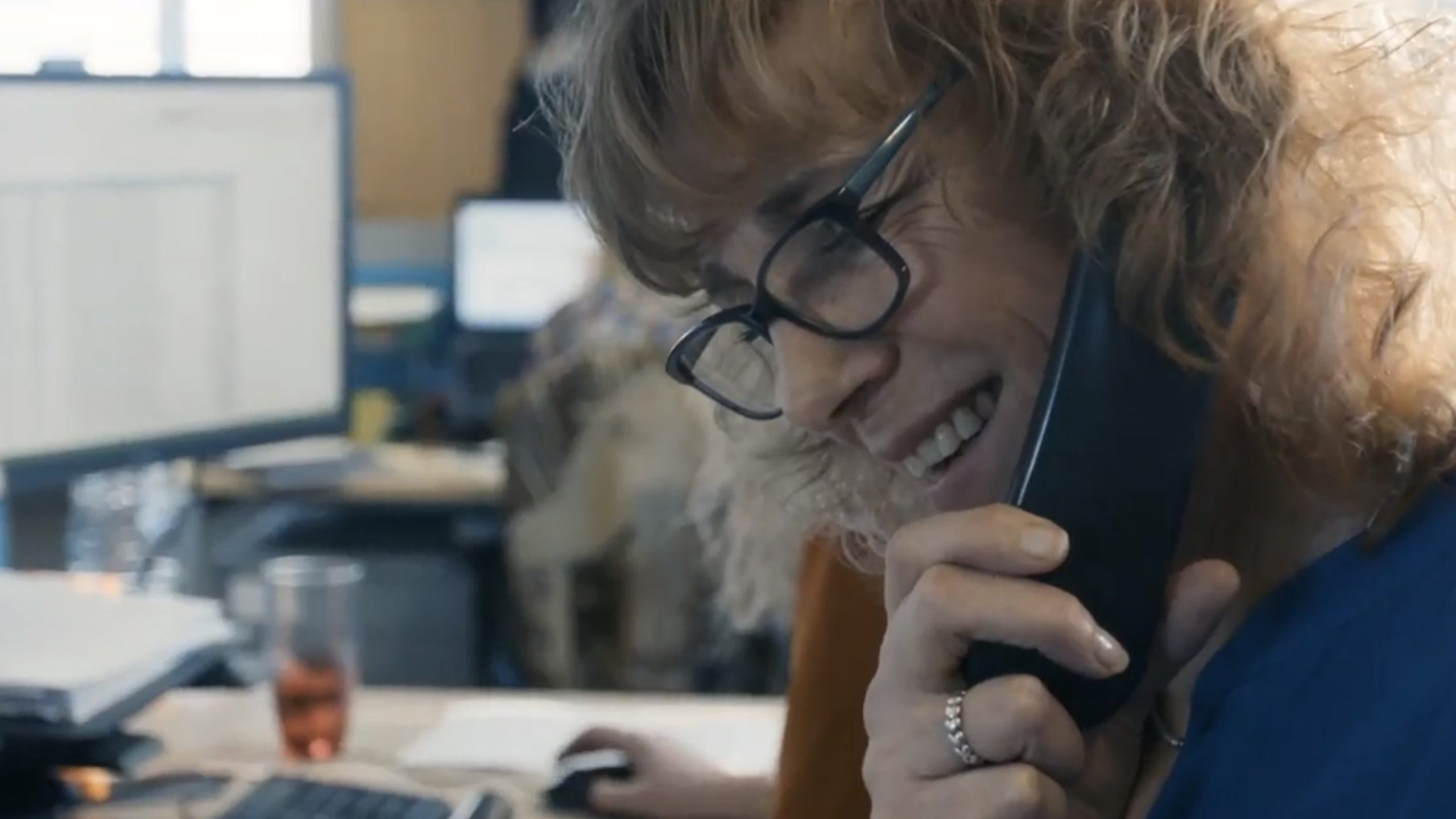 Bupa dental care support centre worker on phone