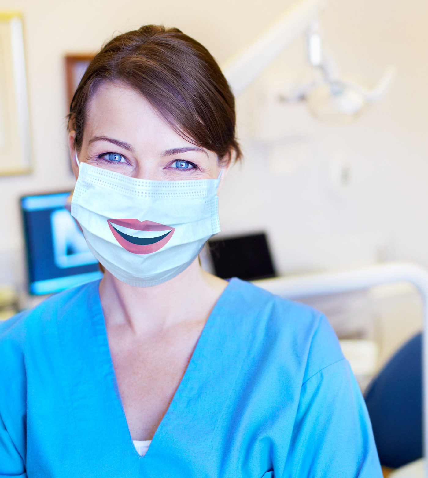 A Bupa Dental Care nurse with mask.