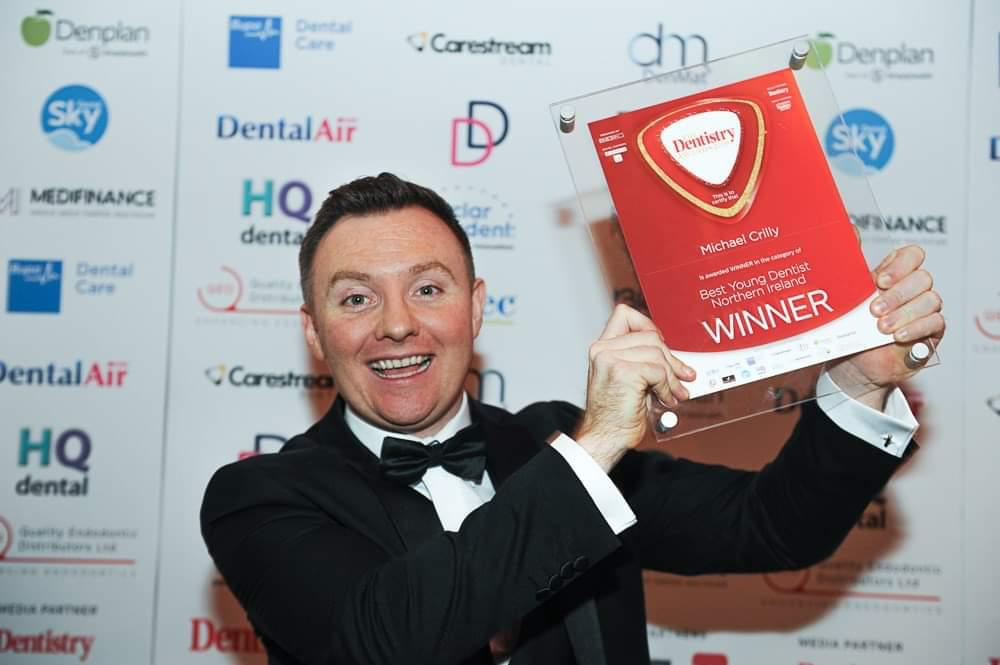 Michael Crilly, winner of best young Dentist at the Dentistry Awards 2019