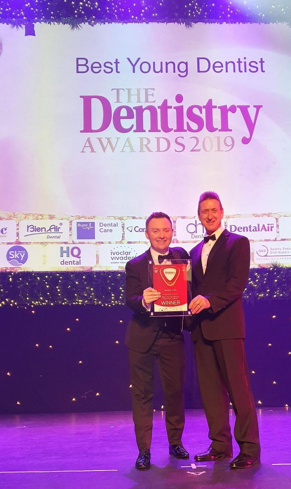 Michael Crilly, winner of best young Dentist at the Dentistry Awards