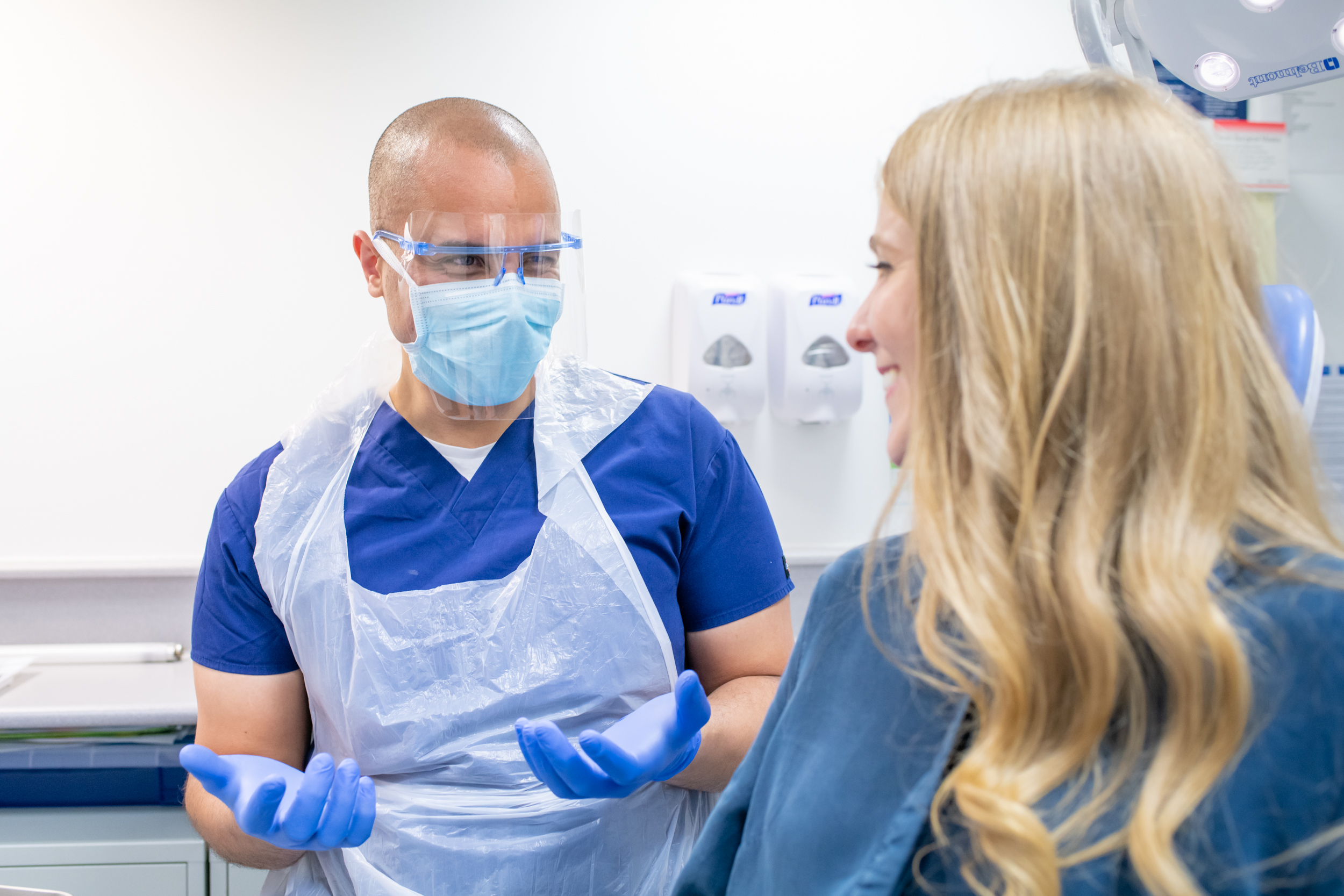 Bupa Dental Care Dentist with patient in surgery
