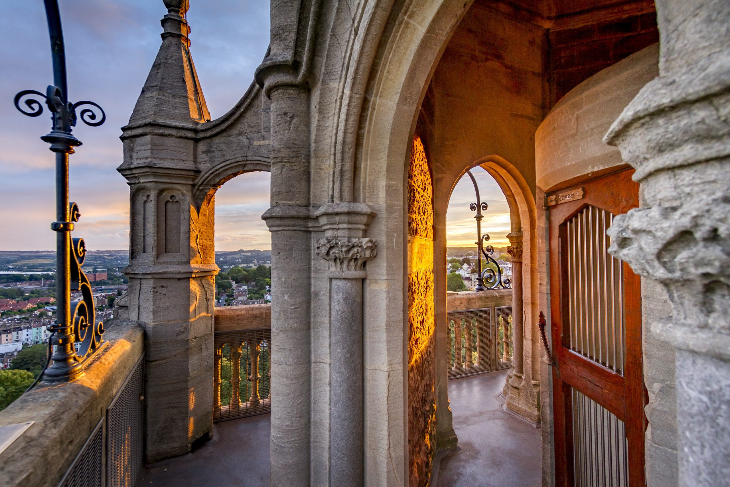 sunset on the cabot tower
