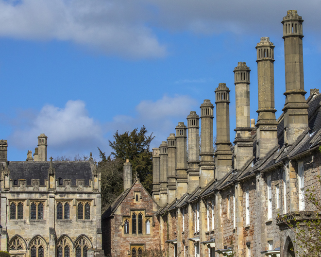 Vicars Close in the City of Wells, Somerset, UK